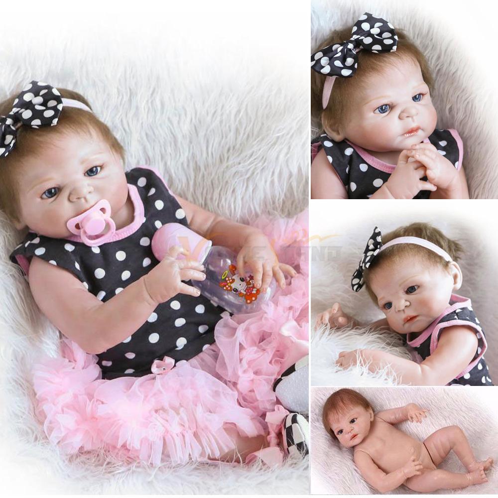Full body silicone baby for sale 2015 - 23 Newborn Handmade Reborn Baby Doll Full Body Silicone Vinyl Girl