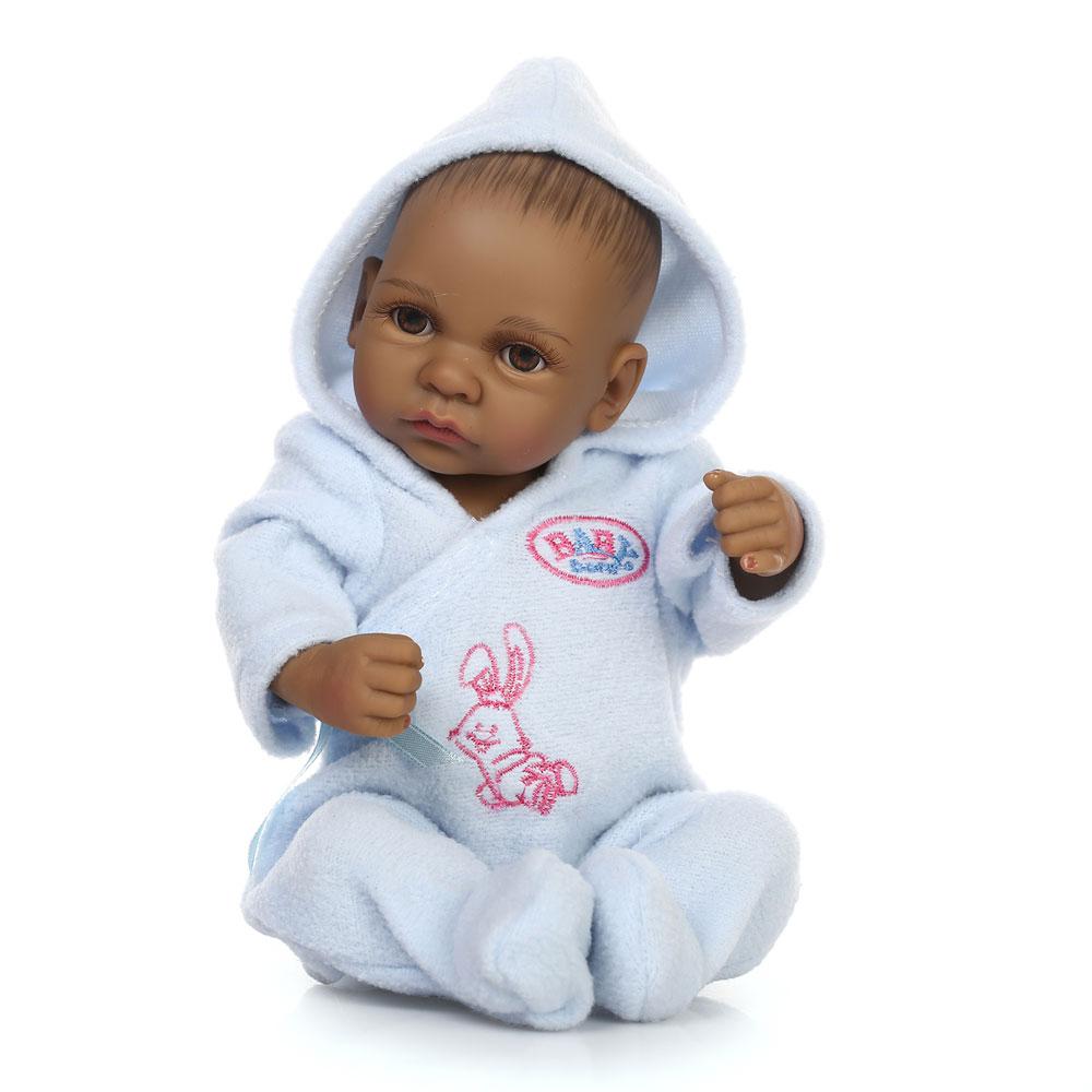 10quot reborn baby african american baby doll black vinyl