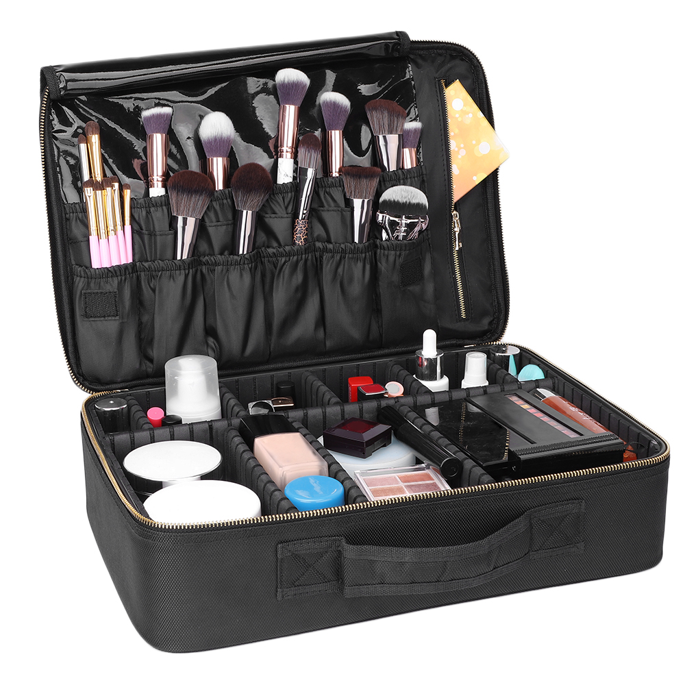 Details About Extra Large Makeup Bag Vanity Case Cosmetic Artist Storage Beauty Box Portable